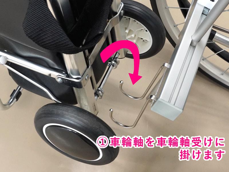 車輪軸を固定